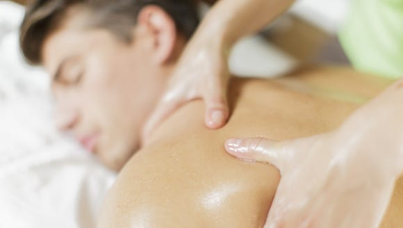 Make the most of your time off and have a masseuse