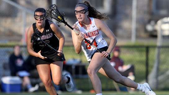 Mamaroneck's Cassie Budill (24) , shown working the