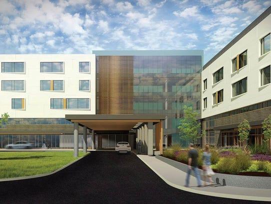 An artist rendering of the UPMC Pinnacle Memorial hospital.