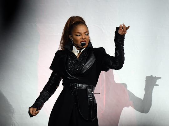 Janet Jackson performs at Little Caesars Arena.