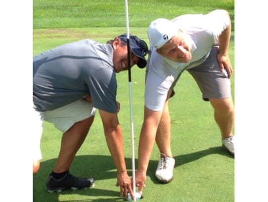 While playing an Ol' Buddy match at Bear Slide Golf Club in Cicero on June 29, opponents Dave Tambunan and Neil Brattain both aced the 143-yard par 3 16th hole.