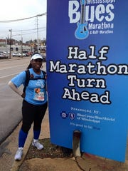 Tonja Murphy at the Mississippi Blues Marathon.