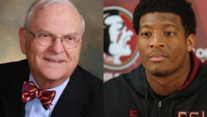 Major Harding, left, and Jameis Winston