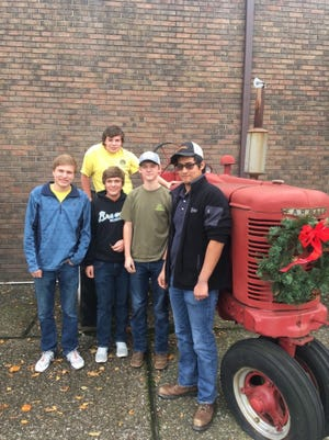 Small engines team Pictured L to R: Hunter Robinson, John Heine, Dylan Onan, Bryce Johns, and Bedney Greenwell
