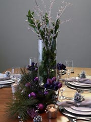 Add some greenery to your table to create a festive tablescape.