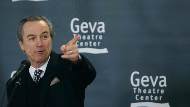 Geva Theatre artistic director Mark Cuddy talks about the new lofts at the old Merkel Donohue building. 2015 file photo.