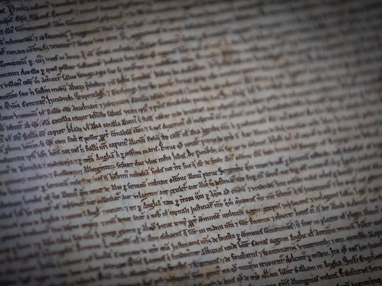 Salisbury Cathedral Opens Exhibition To Commemorate the 800th Anniversary Of The Magna Carta