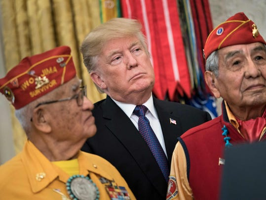Image result for trump racism with code talkers