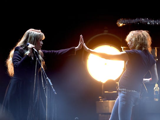 Stevie Nicks and Chrissie Hynde of The Pretenders.
