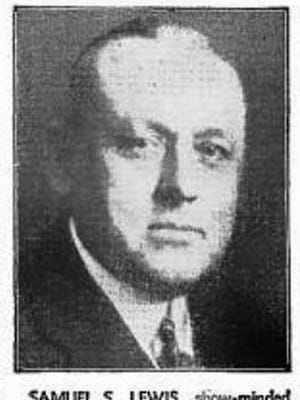 """""""Samuel S. Lewis, show-minded president and general manager of York (Pa.) Interstate Fair.""""  (May, 1943 Billboard magazine.)"""