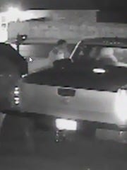 Four suspects are being sought in connection with vehicle burglaries Sunday.