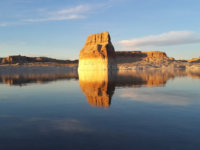 Reflections of Lone Rock at Lake Powell March 28.