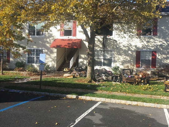Fire department officials said a woman died in this condo complex in Bridgewater early Monday morning.