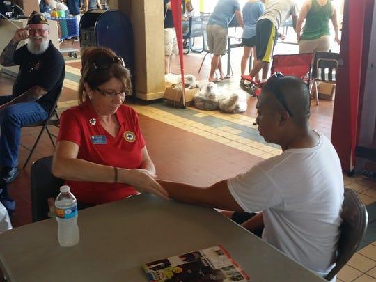 Pam Blain with American Legion Post 157 in Shepherdsville