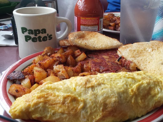 Papa Pete's serves diner style food, in enormous portions,