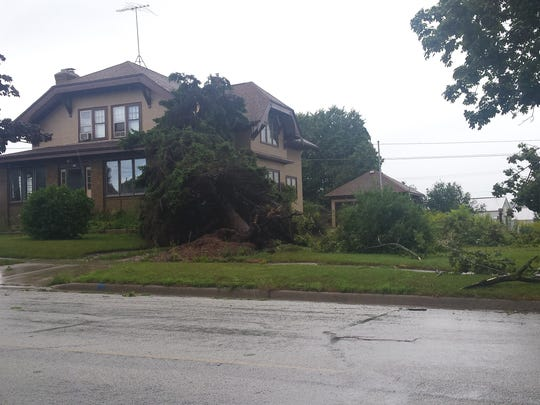 A number of homes on Kewaunee's west side were damaged by falling trees in the Aug. 20 storm that has officially been designated as an EF0 tornado.