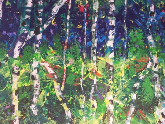 "Where these artists came from also is evident in Ken Burstin's ""Berkshires,"" a colorful acrylic of a stand of birch trees. Burstin has lived in the Ozarks since 1979, but the Berkshires are ""where I'm from,"" he said."