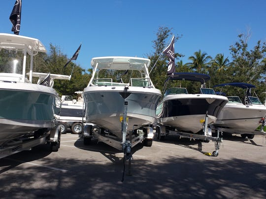 Dealers bring a variety of boats to the annual Bonita Bay Marina Boat Show.