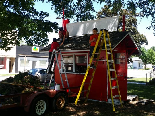 The Ruffi brothers remodel Pop's Corn Crib.