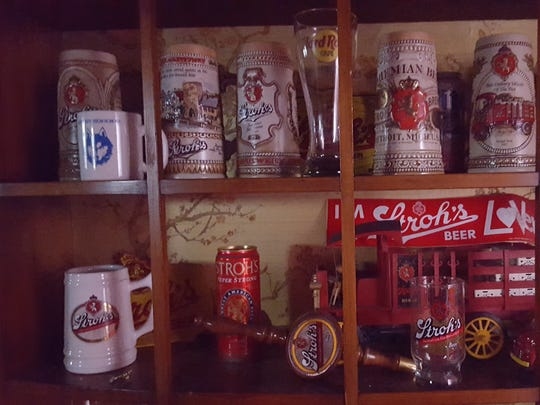Dan Springer of White Lake shares a photo of his Stroh's memarobilia collection.