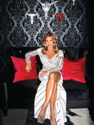 Ready to party, Jaci Fitzsimonds in a Jovani gown accessorized by Frasca Jewelers; Jimmy Choo sandals.