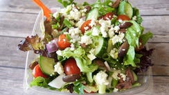 The Greek salad from Salad and Go, a locally owned