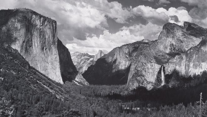 Yosemite Valley from Wawona Tunnel Esplanade, about 1935.  Photograph by Ansel  Adams. Image courtesy of  Collection Center for Creative Photography,  University of Arizona.  ©The Ansel Adams  Publishing Rights Trust
