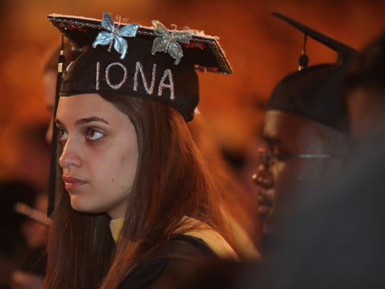 Iona College graduation at Madison Square Garden in Manhattan on May 17, 2014.