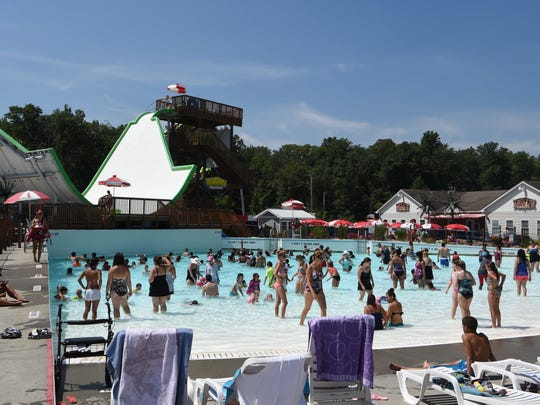 Visitors enjoy SplashDown Beach Water Park in Fishkill.