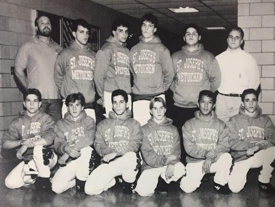 The 1992-93 St. Joseph (Met.) wrestling team.