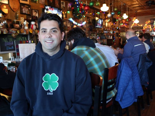 Co-owner Ken Martin at Colony Grill in Stamford.