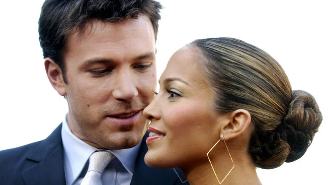Jennifer Lopez and Ben Affleck are seen together in Los Angeles, in this Feb. 9, 2003 photo.