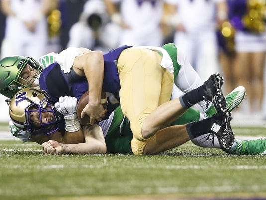 NCAA Football: Oregon at Washington