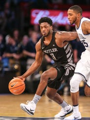 Mar 9, 2018; New York, NY, USA; Butler Bulldogs guard