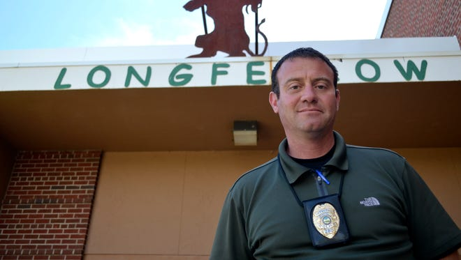 Great Falls Police Detective Aaron Frick is one of the school resource officers for elementary and middle schools in the Great Falls Public School District. While incidents declined overall last  year, elementary school incidents spiked by about 30 percent.