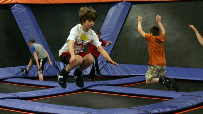 Sky Zone Indoor Trampoline Park recently opened at 1300 SE Gateway Drive, Suite 103, in Grimes. Sky Zone offers multiple trampolines for jumping, dodgeball, basketball dunking, foam pit and aerobic and toddler classes.