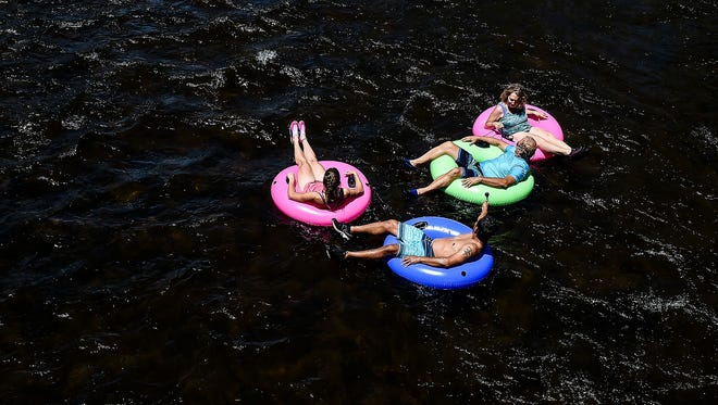 A group tubes down the Yampa River in Steamboat Springs in 2015.