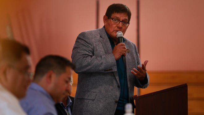 Navajo Nation Council Speaker LoRenzo Bates alleges tribal law was not followed when President Russell Begaye issued line-item vetoes eliminating $282,304 that was earmarked for the legislative branch.