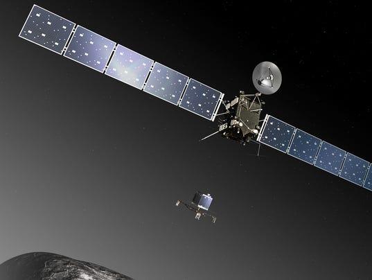 AP Germany Europe Comet Landing