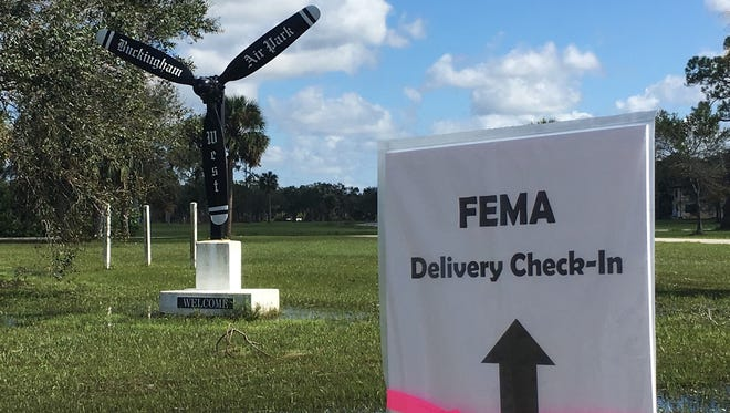 Buckingham Airfield in Lehigh Acres is one of three large hubs statewide for Hurricane Irma recovery efforts.