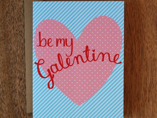 "A Galentine's Day card from the Etsy shop ""Shake The"