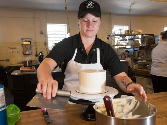 Pastry Chef Jordan Hewes creates one of her signature