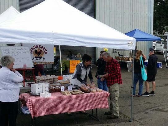 Turner's farmer's market is 9:30 a.m. to 2 p.m. Sundays