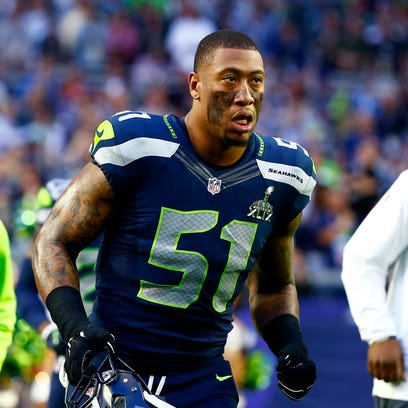 Seattle Seahawks linebacker Bruce Irvin (51) against