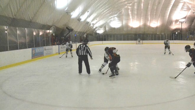 Suffern,Pelham and Scarsdale will all be playing at the Ice Hutch today in the New York State Great 8 Tournament.