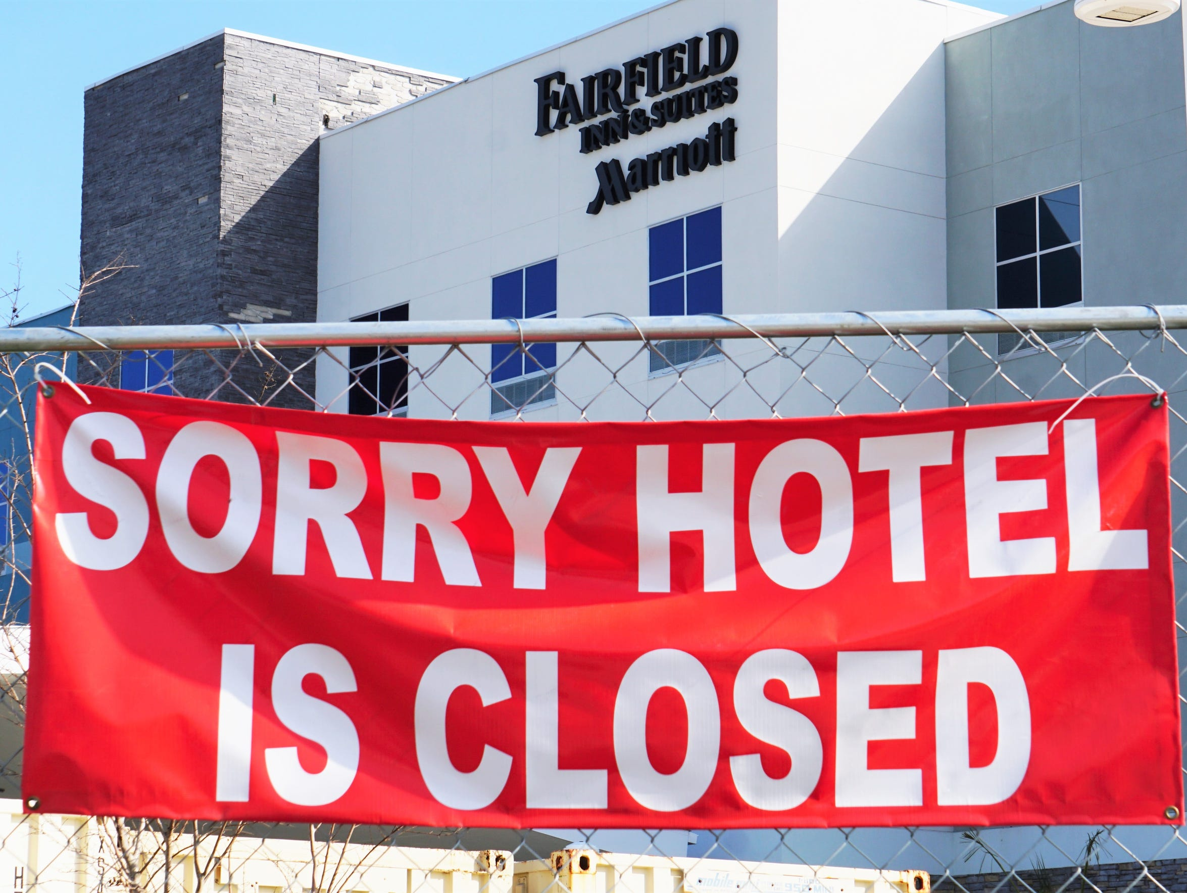 The Fairfield Inn in Rockport is still closed while
