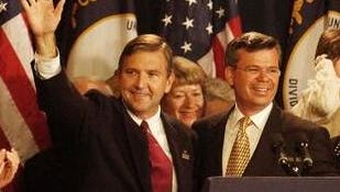 Steve Pence, left, and Ernie Fletcher, Election Night, 2003