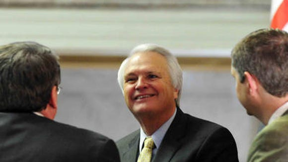 Lt. Gov. Ron Ramsey was officially re-elected Tuesday to serve as leader of the state Senate.