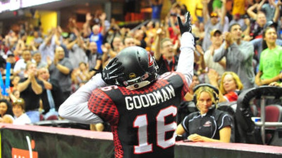 Former UC and Colerain standout Dominick Goodman is leading the Arena Football League in receptions.