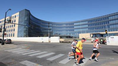 Wellmark Blue Cross & Blue Shield headquarters is in downtown Des Moines.